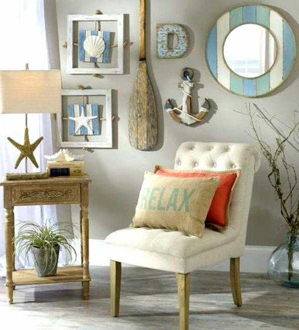 Nautical Beach Cottage Gallery Wall Idea from Kirkland's