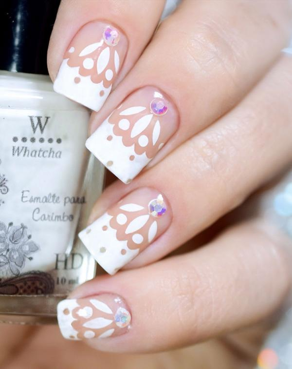 50 white nail art ideas art and design white nail 50 white nail art ideas prinsesfo Gallery