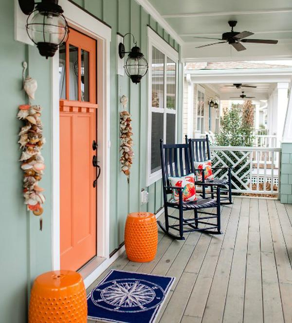 beach cottage front door decor