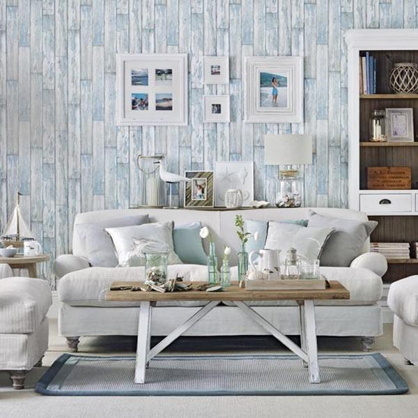 blue and white coastal living room ideal home