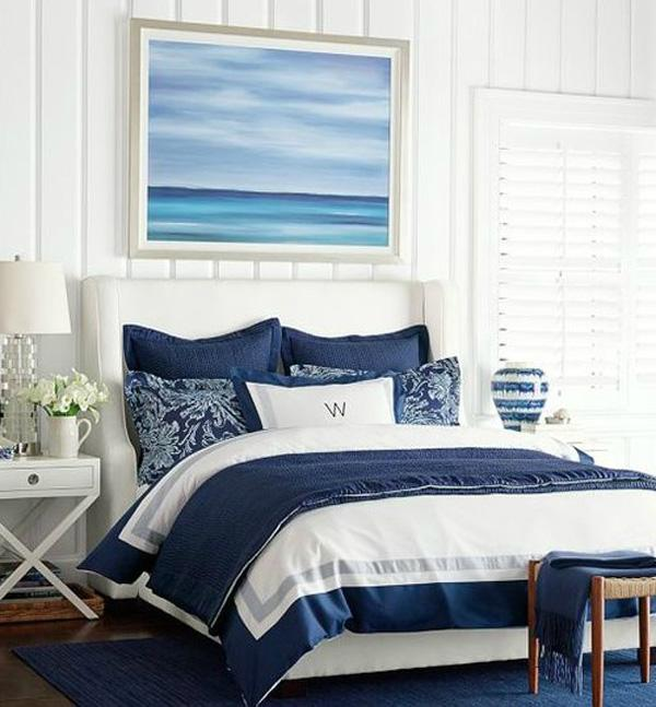 blue ocean art bedroom