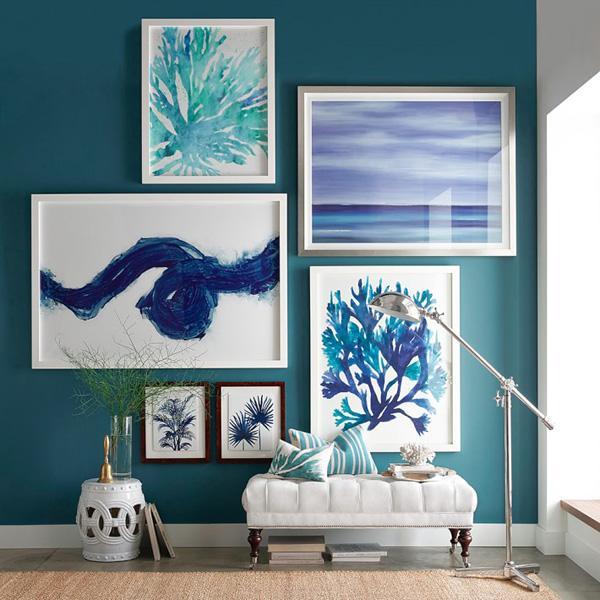 oversized indigo coral prints