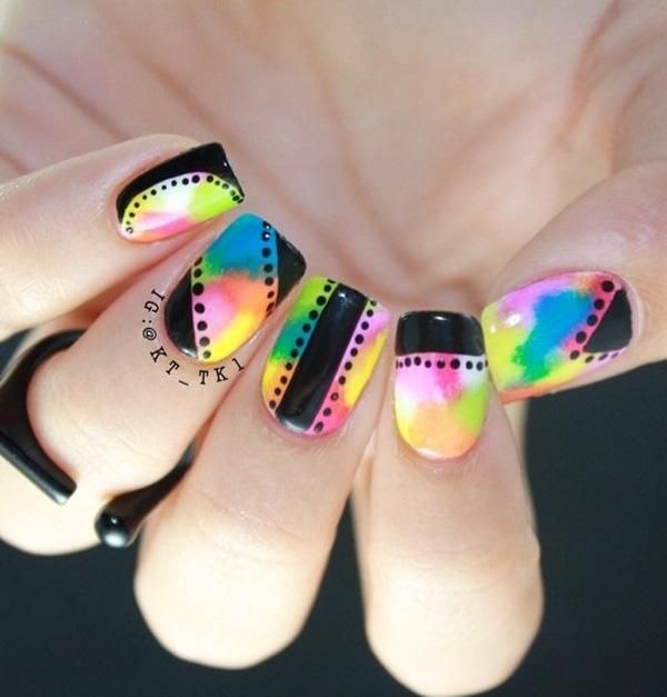 rainbow nail art-12
