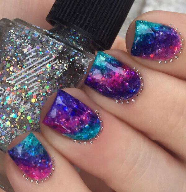 rainbow nail art-16