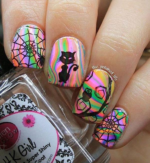 rainbow nail art-19