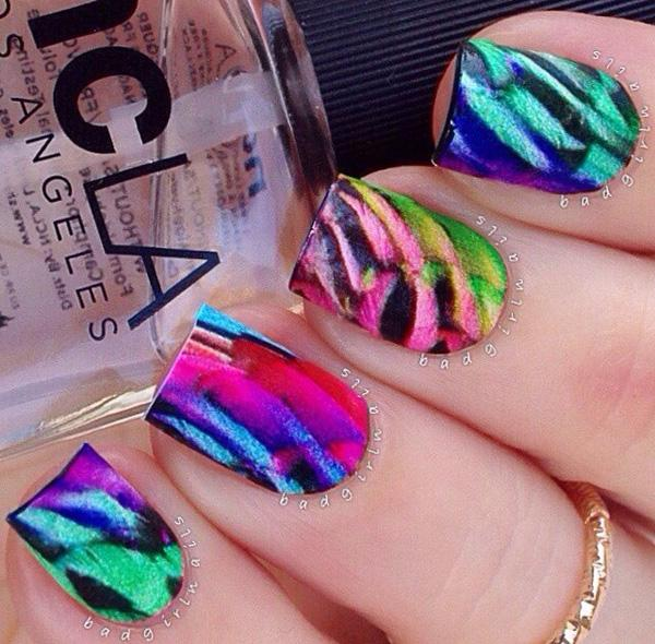 rainbow nail art-24