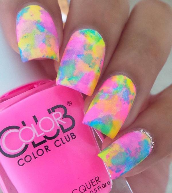 rainbow nail art-26