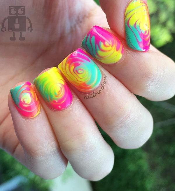 rainbow nail art-28