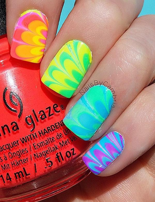 rainbow nail art-3