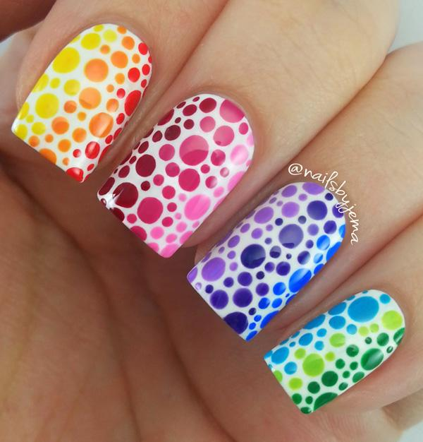 rainbow nail art-31