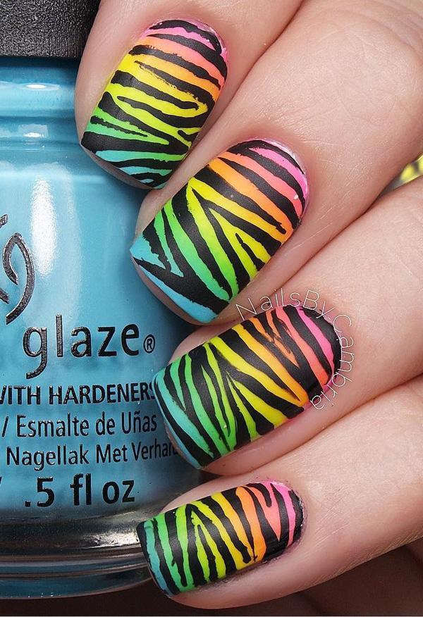 rainbow nail art-32