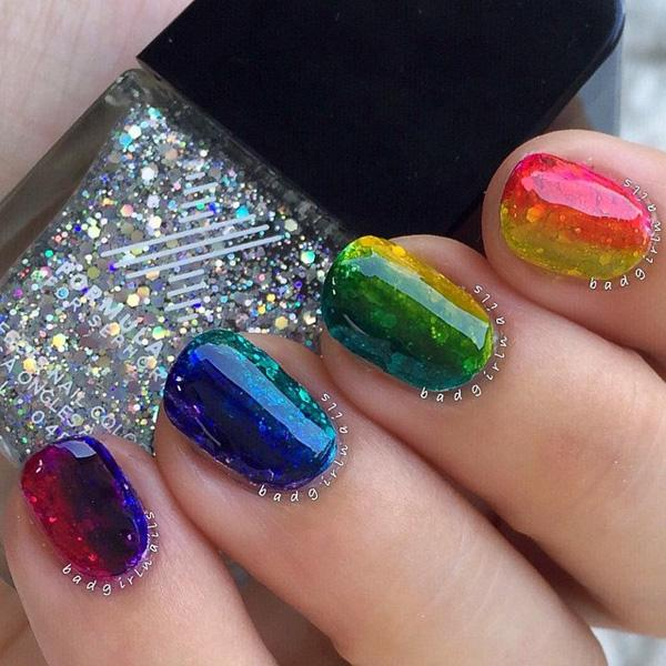 rainbow nail art - 30+ Rainbow Nail Art Ideas ... - 30+ Rainbow Nail Art Ideas Art And Design