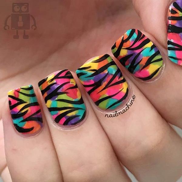 rainbow nail art-8