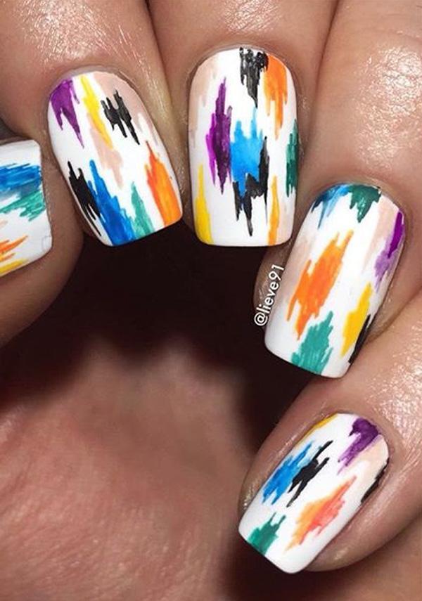 rainbow nail art-9