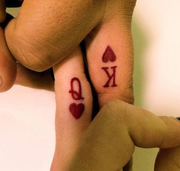 2 Q and K couple tattoo