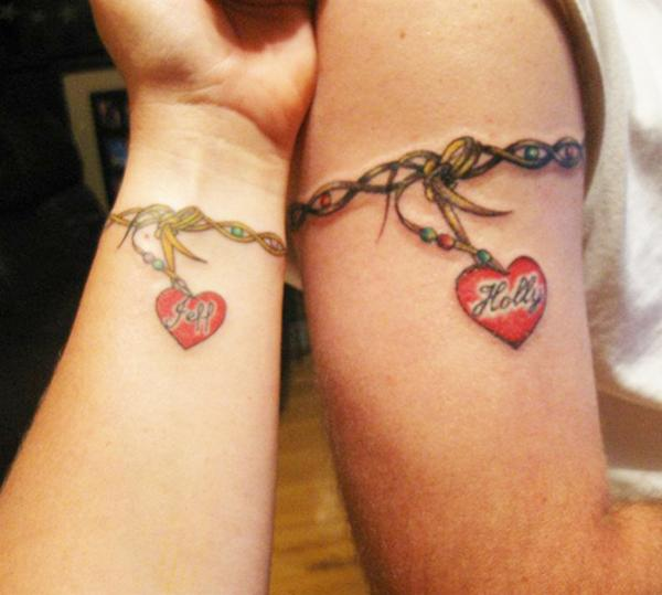 Love forever meaningful couple matching tattoo