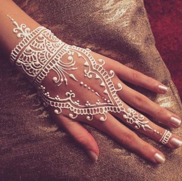 25 amazing white henna designs and design