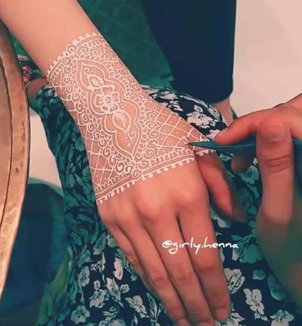 White Henna Design-10