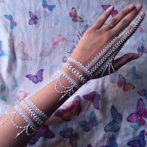 White Henna Design-19