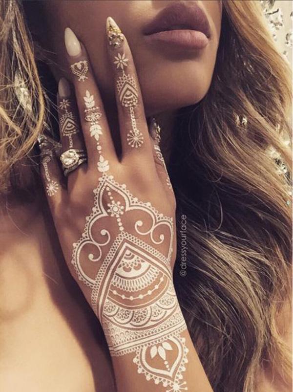White Henna Design-2