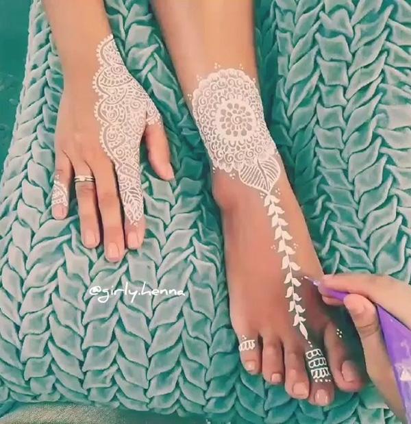 White Henna Design-22