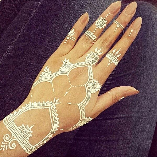 White Henna Design-3