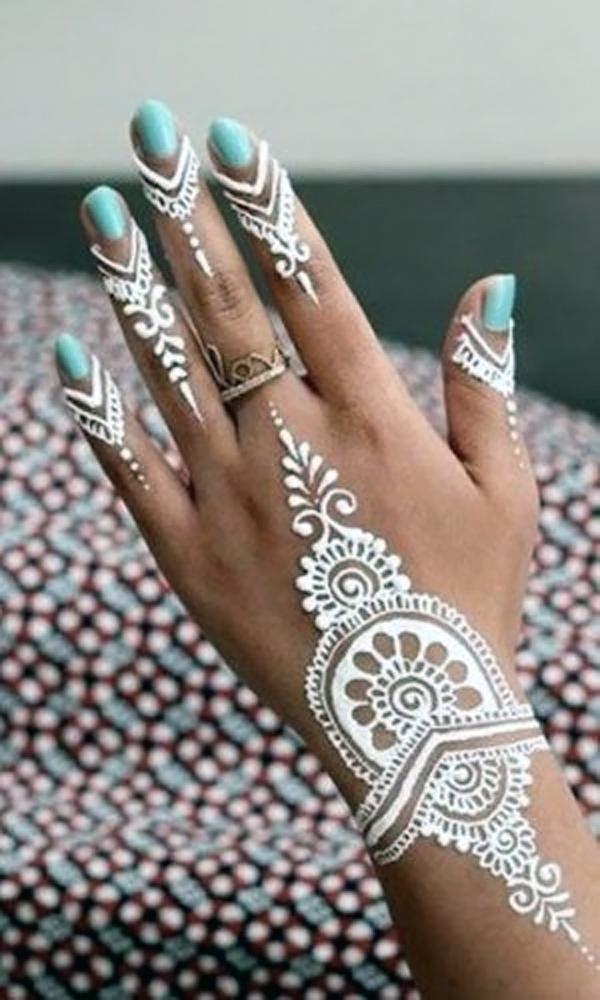 White Henna Design-4