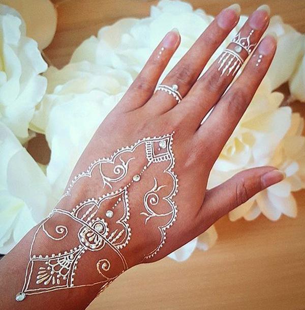 White Henna Design-5