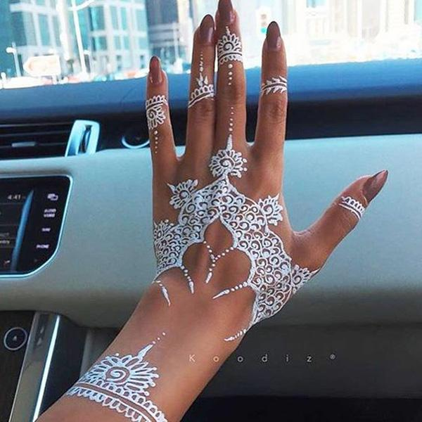White Henna Design-9