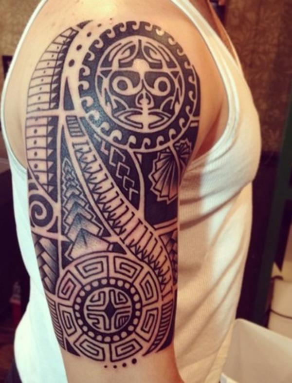 Marquesan Half Sleeve Tattoo Design