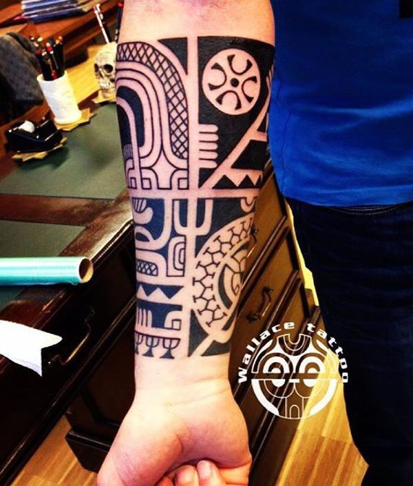 Marquesan Inner Forearm Tattoo Design
