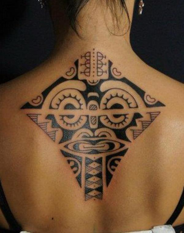 Back Tattoo inspired by Marquesan Motif