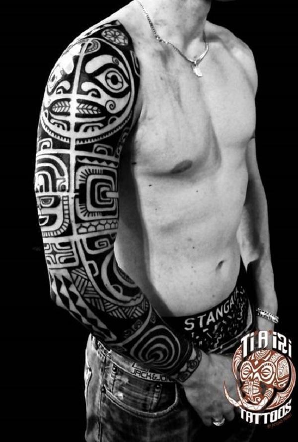 Polynesian Arm Tattoo Design
