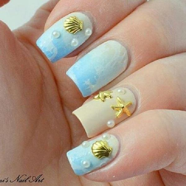 sea nail art - 45 Ocean Nail Art Ideas ... - 45 Ocean Nail Art Ideas Art And Design