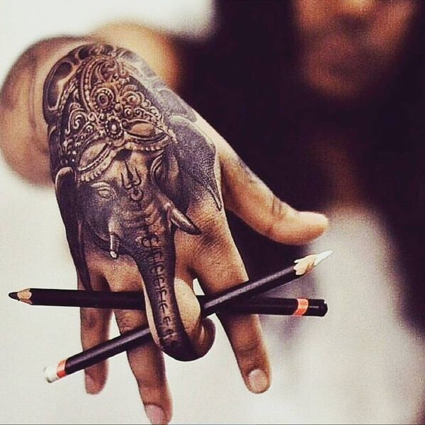 10 Magical elephant tattoo on the hand