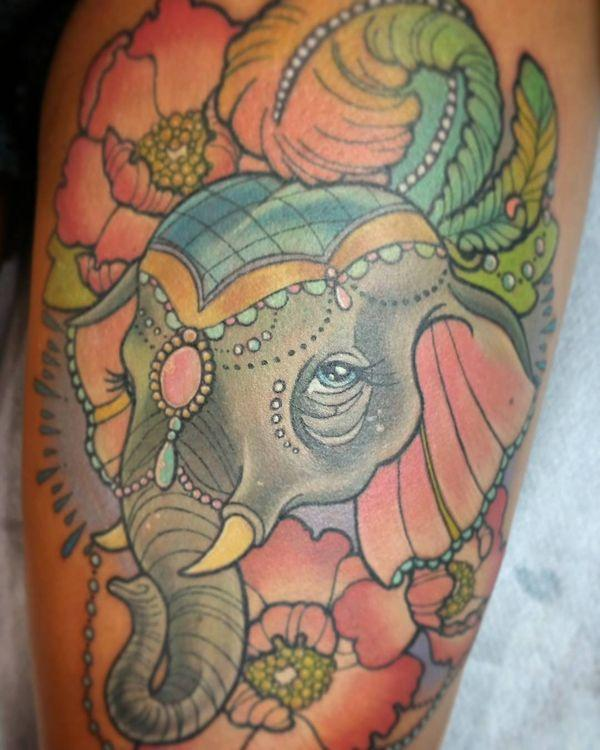 13 Fabulous elephant tattoo on the body