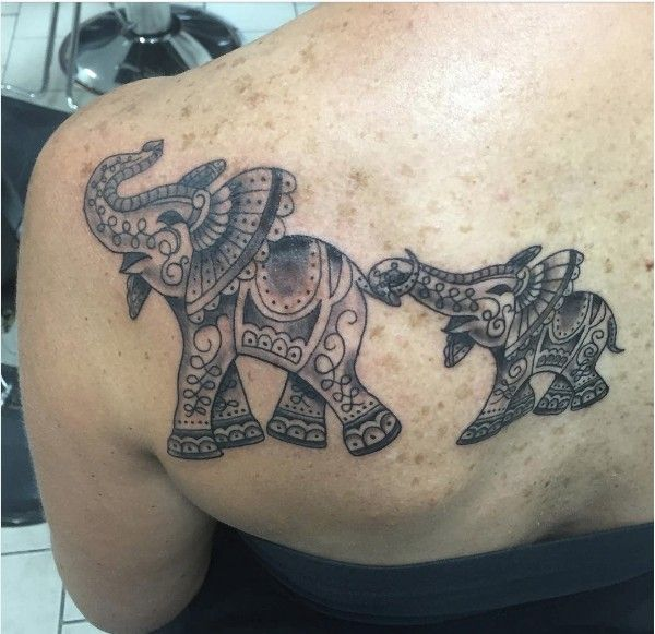 Elephant family tattoo for Elephant tattoo meaning family