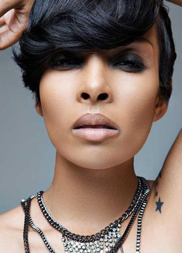 Natural Short Black  Hairstyle