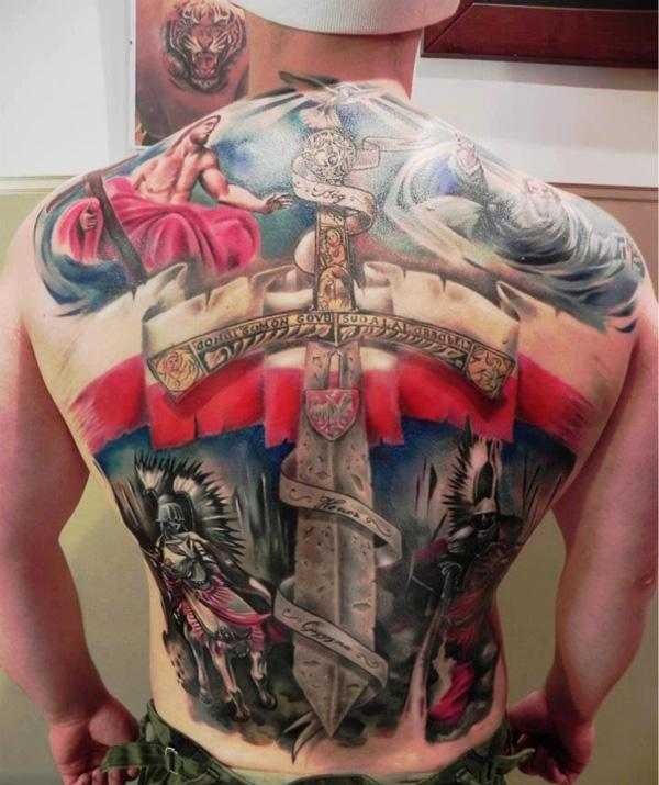 sword full back tattoo-1