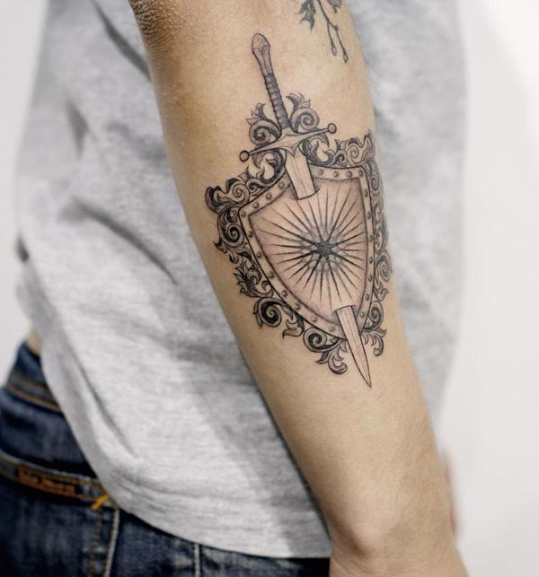 sword shield tattoo- 17