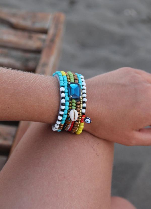 African Beaded Bracelet-10