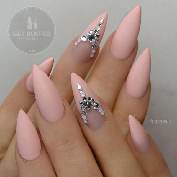 I love when something is shining, but to be honest looking at these  pictures more ... - 50+ Almond Nail Designs Art And Design