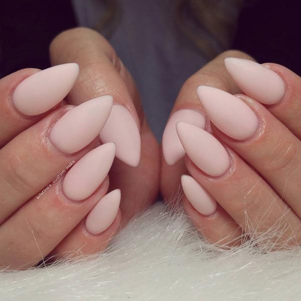 If you have mastered the technique of gelation nails, matte look you'll  give ... - 50+ Almond Nail Designs Art And Design