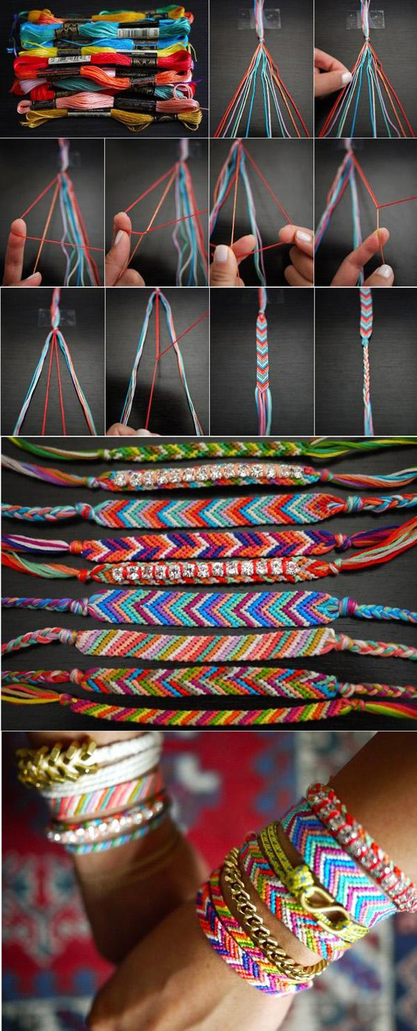 bracelet patterns friendship blue craft friendshipbracelet gradient kq arrow pattern embroidery