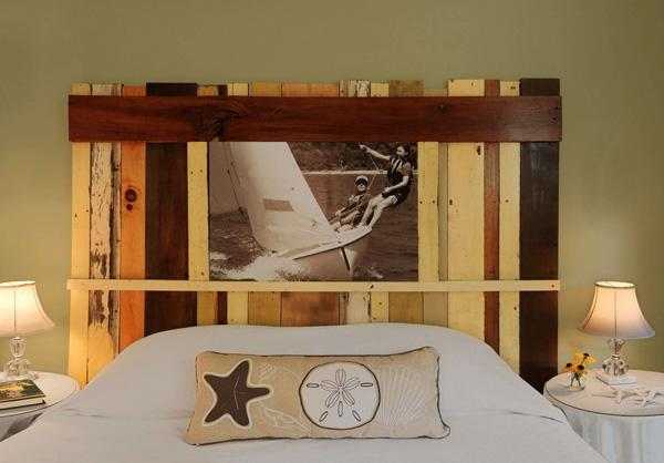 perfect-wood-diy-headboard-design-with-white-modern-plain-fabric-bedsheet-also-round-white-nig