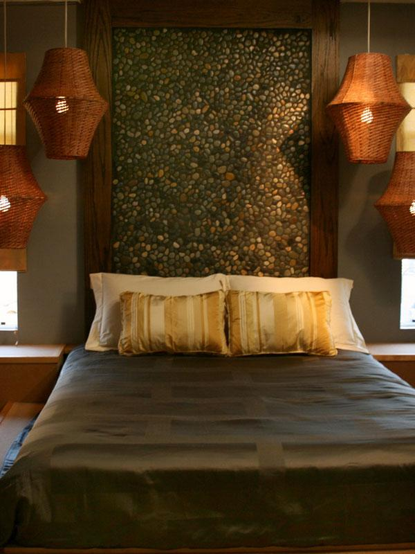 Elegant Mosaic Themed Headboard. The Mosaic Is Then Held Together By A  Wooden Frame Which ...