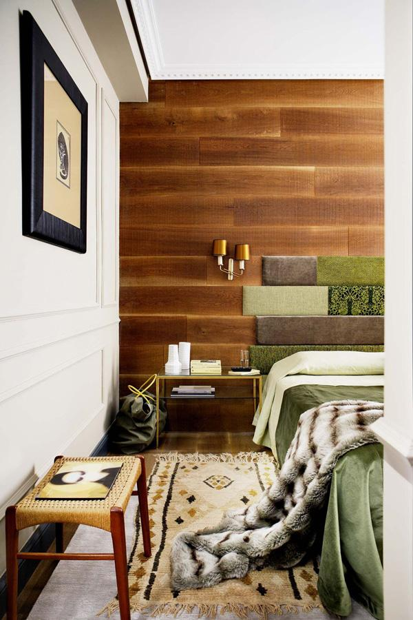 wood-paneling-wall-fabric-headboard-pieces