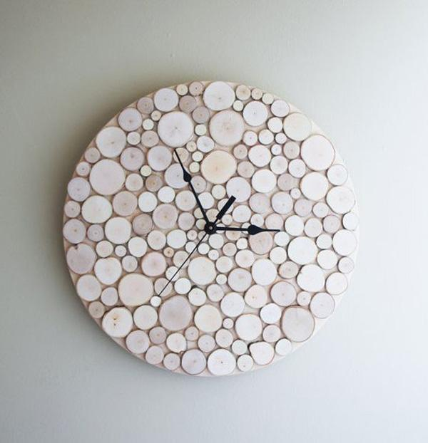 birch-forest-wood-clock