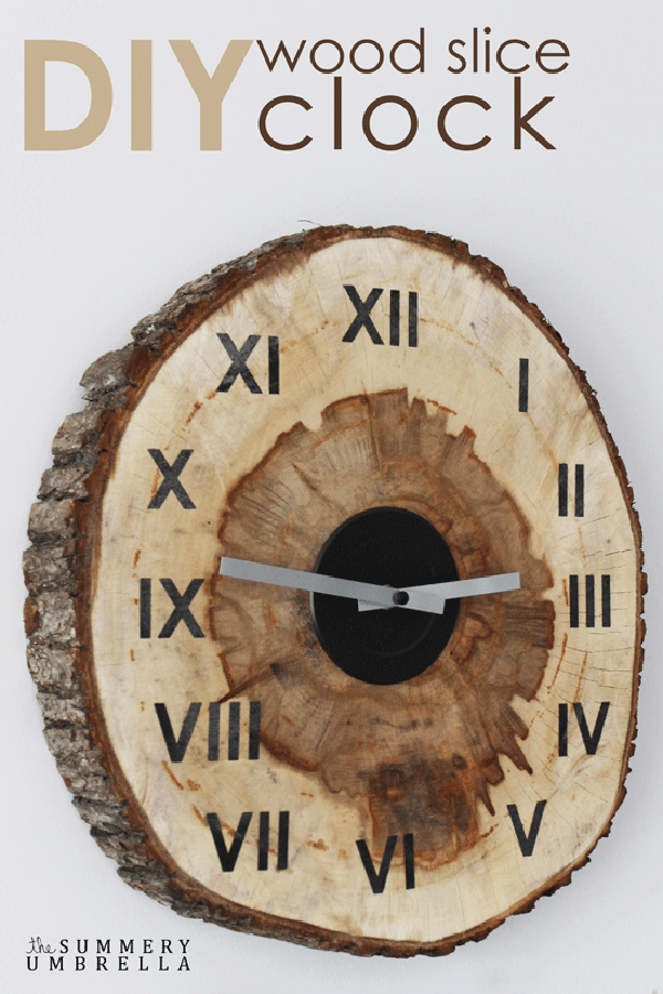 diy-wood-slice-clock