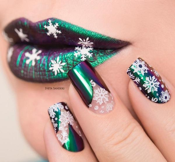- 60 темных ногтей для зимы <3